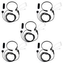 Retevis Throat Mic 2 Way Radio Earpiece Covert Acoustic Tube Headset for Baofeng BF-888S Retevis H-777 RT22 RT1 Arcshell AR-5 Walkie Talkies (5 Pack)