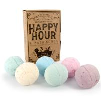 Bath Bombs For Women HomEco Happy Hour Gift Bath Set, 6 Premium X- Large Ultra Lush Bombs with Organic and Natural Fizzing Ingredients - Great Birthday Gift Idea, by HomEco