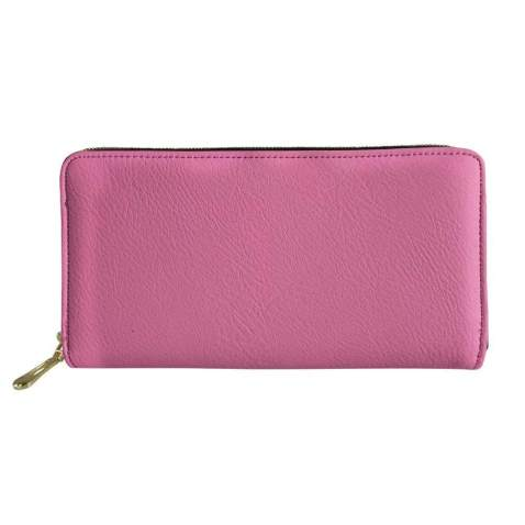 Dellukee Women Leather Zip Around Wallet Case Phone Clutch Purse Card Holder Organizer