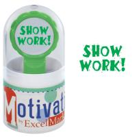 Motivations Pre-Inked Teacher Stamp - Show Work! - Green