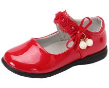 DADAWEN Girl's Strap School Uniform Mary Jane Flats Princess Wedding Party Dress Shoes (Toddler/Little Kid/Big Kid)