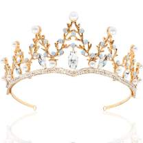 NODG Gold Tiaras Wedding Tiaras and Crowns for Women Rhinestone Branches Tiara for Women Princess Crown Birthday Tiara Headbands for Wedding Prom Bridal Party Halloween Costume Christmas Gifts