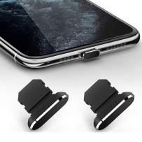 TITACUTE 2 Pack Anti Dust Plugs for iPhone 11, iPhone 11 Pro Max Dust Cover 8 Pin Dust Plug with Mini Storage Box iPhone Charging Port Plugs Compatible with iPhone 11 Pro/XS Max/XR/ 8 Plus Black