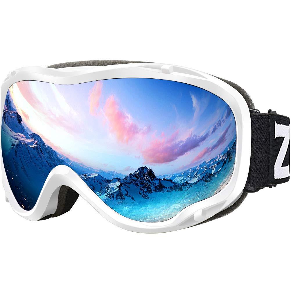 ZIONOR Lagopus Ski Snowboard Goggles UV Protection Anti Fog Snow Goggles for Men Women Youth