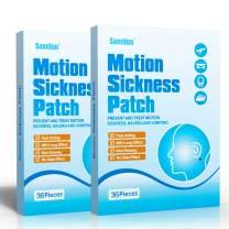 Sumifun Motion Sickness Patches Non-Drowsy, Anti-Nausea for Car/Sea/Air Travel Sickness 72 Pcs/2 Boxes