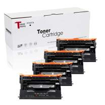TonerSave CF237A (with Chip) Compatible Toner Cartridge Replacement for HP CF237A 37A (4 Pack) for use with Laserjet Enterprise M608n M607n M607dn M608x M609dn,MFP M631 M632 M633 Series Printers