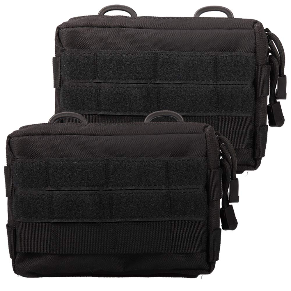 Novemkada MOLLE Pouches - 2 Pack Tactical Compact Water-Resistant Utility Gadget Gear EDC Pouch