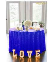 72in Round Sequin Tablecloth/Wedding Beautiful Sequin Table Cloth/Overlay/Cover (Royal Blue)