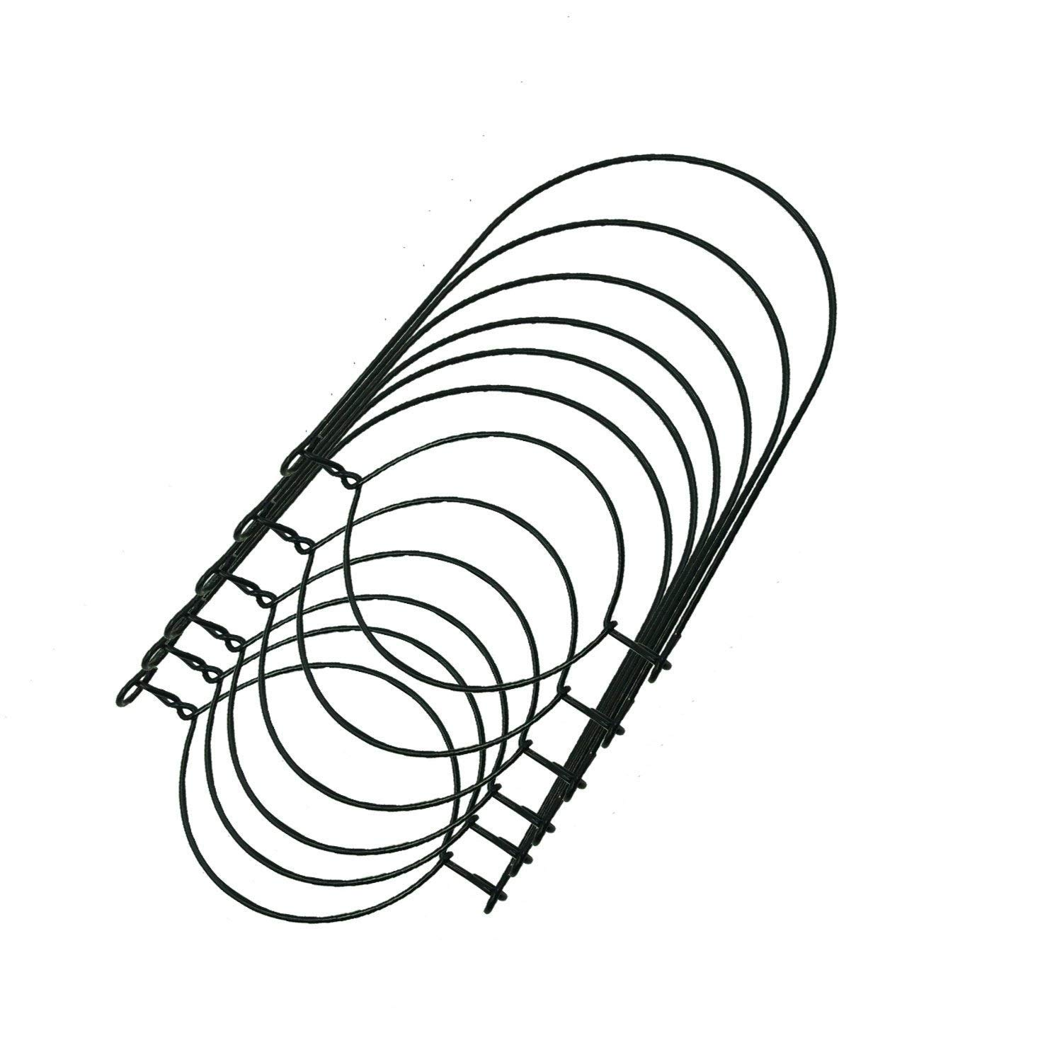 THINKCHANCES Rust Resistant Black Stainless Steel Wire Handles Hangers (Handle-Ease) for Mason, Ball, Canning Jars (6 Pack, Wide mouth)
