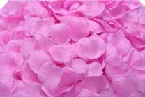 ocharzy 1000pcs Silk Rose Petals Wedding Flower Decoration (Dark Pink)
