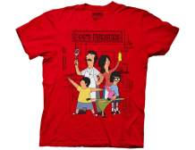 Ripple Junction Bob's Burgers Adult Unisex Family Group Hero Pose Heavy Weight 100% Cotton Crew T-Shirt