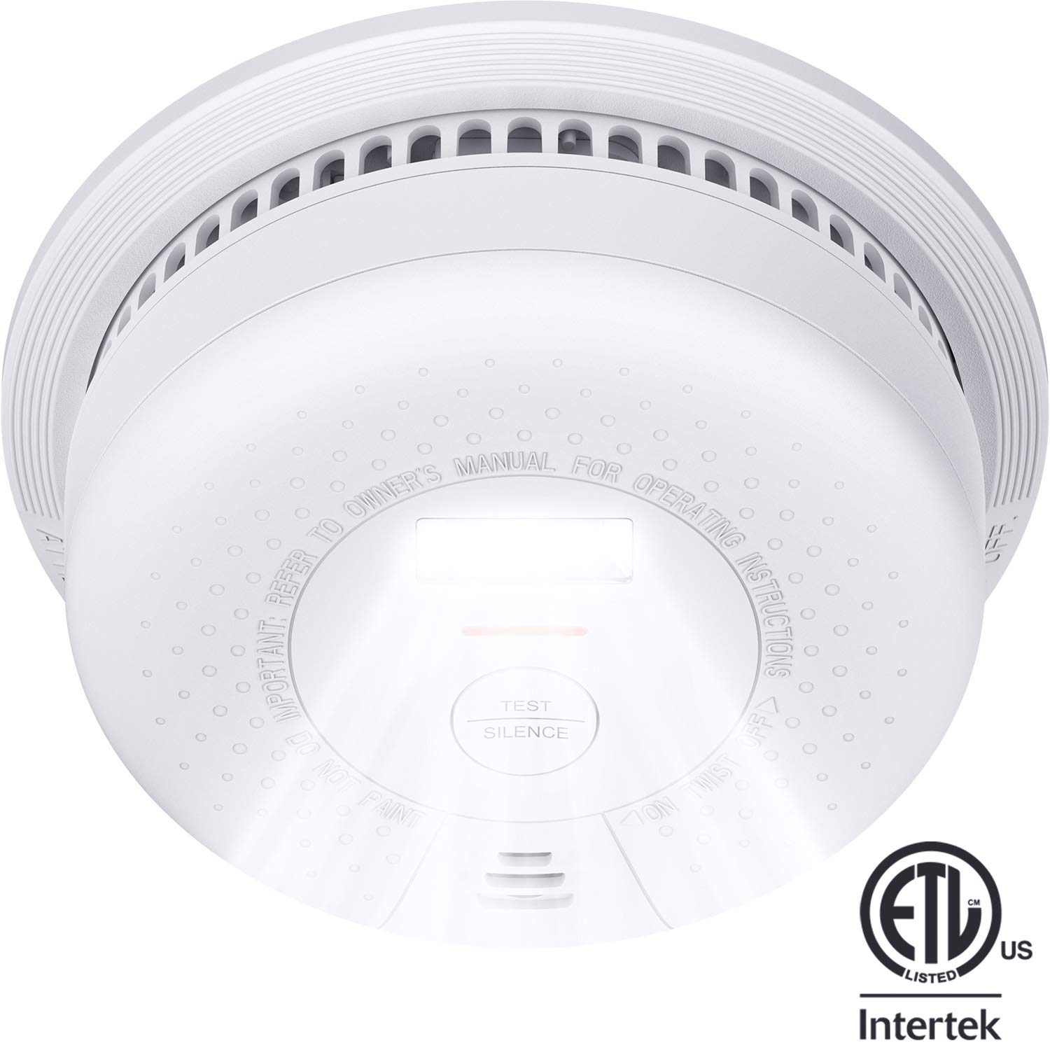 Smoke Detector, X-Sense SD01 10-Year Battery (Not Hardwired) Fire Smoke Alarm with Escape Light, Compliant with UL 217 Standard