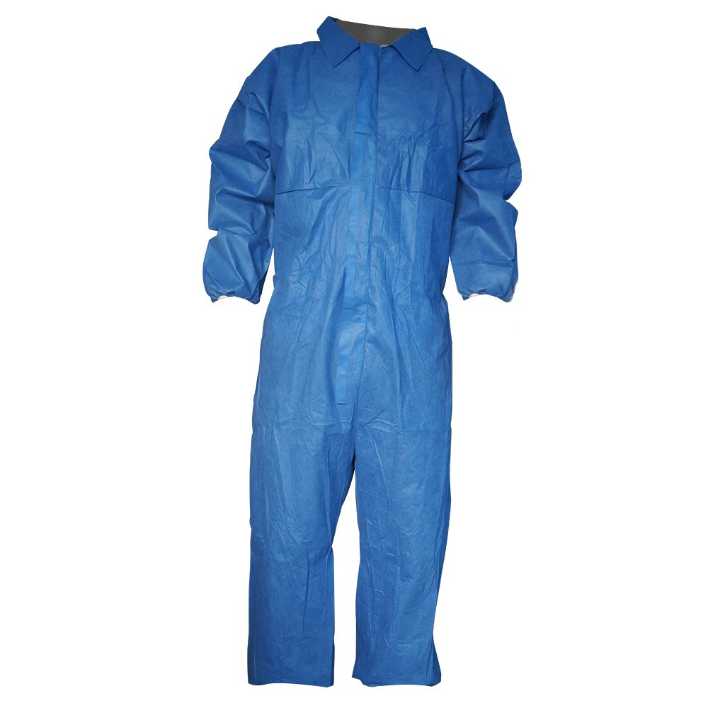Raygard Flame Resistant Retardant Coveralls FR Disposable Chemical Splash Elastic Cuffs Front Zipper Closure for Fame Heat Work Spray Paint Mechanic(X-Large,Blue)