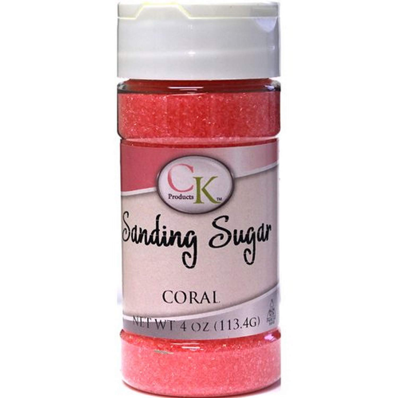 CK Products 78-505C Cake Decorating Sanding Sugar Bottle, 4 oz, Coral