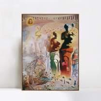 "INVIN ART Framed Canvas Giclee Print Art The Hallucinogenic Toreador by Salvador Dali Wall Art(Wood Color Slim Frame,24""x32"")"