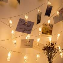 GHodec Photo Clip String Lights, Battery Powered 40 LEDs Fairy String Lights with 20-Clip for Hanging Pictures/Cards/Artwork/Photos/Memos/Party/Decor (Warm White)