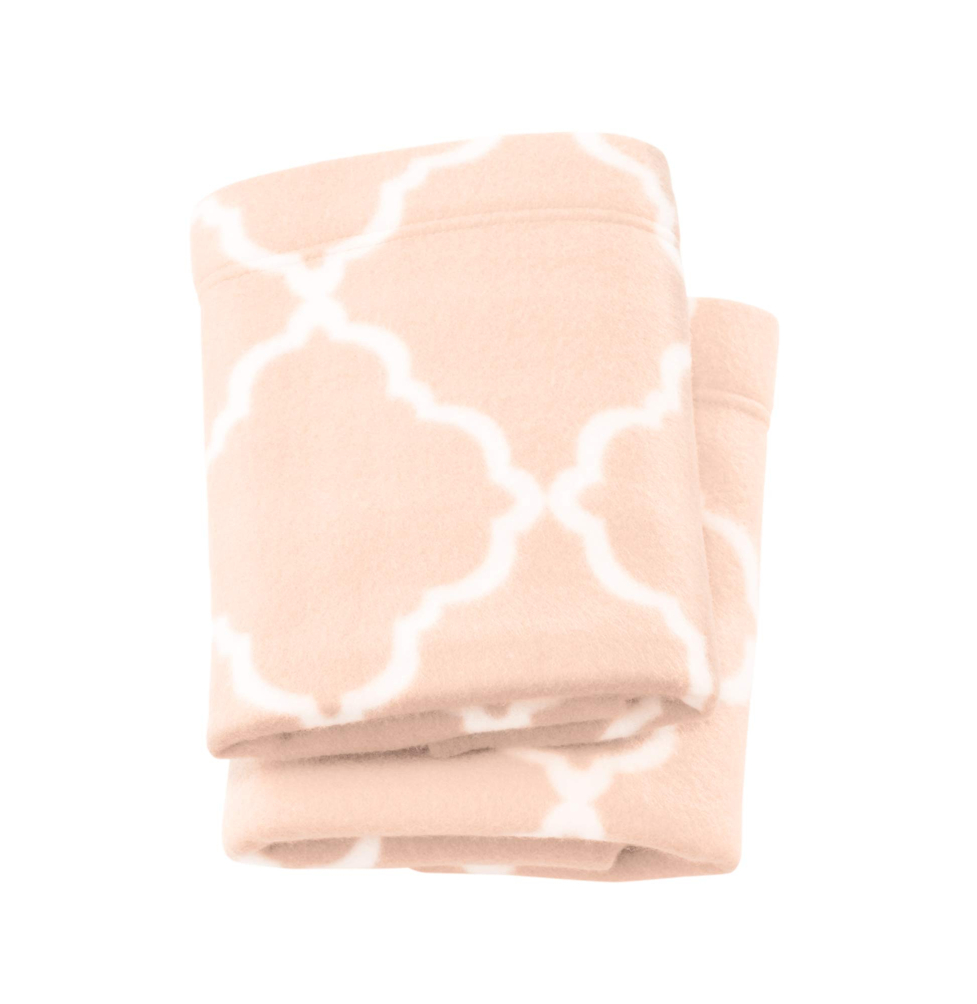 Super Soft Extra Plush Fleece Pillowcases. Cozy, Warm, Durable, Smooth, Breathable Winter Pillowcases with Cloud Lattice Pattern. Dara Collection (King, Blush Pink)