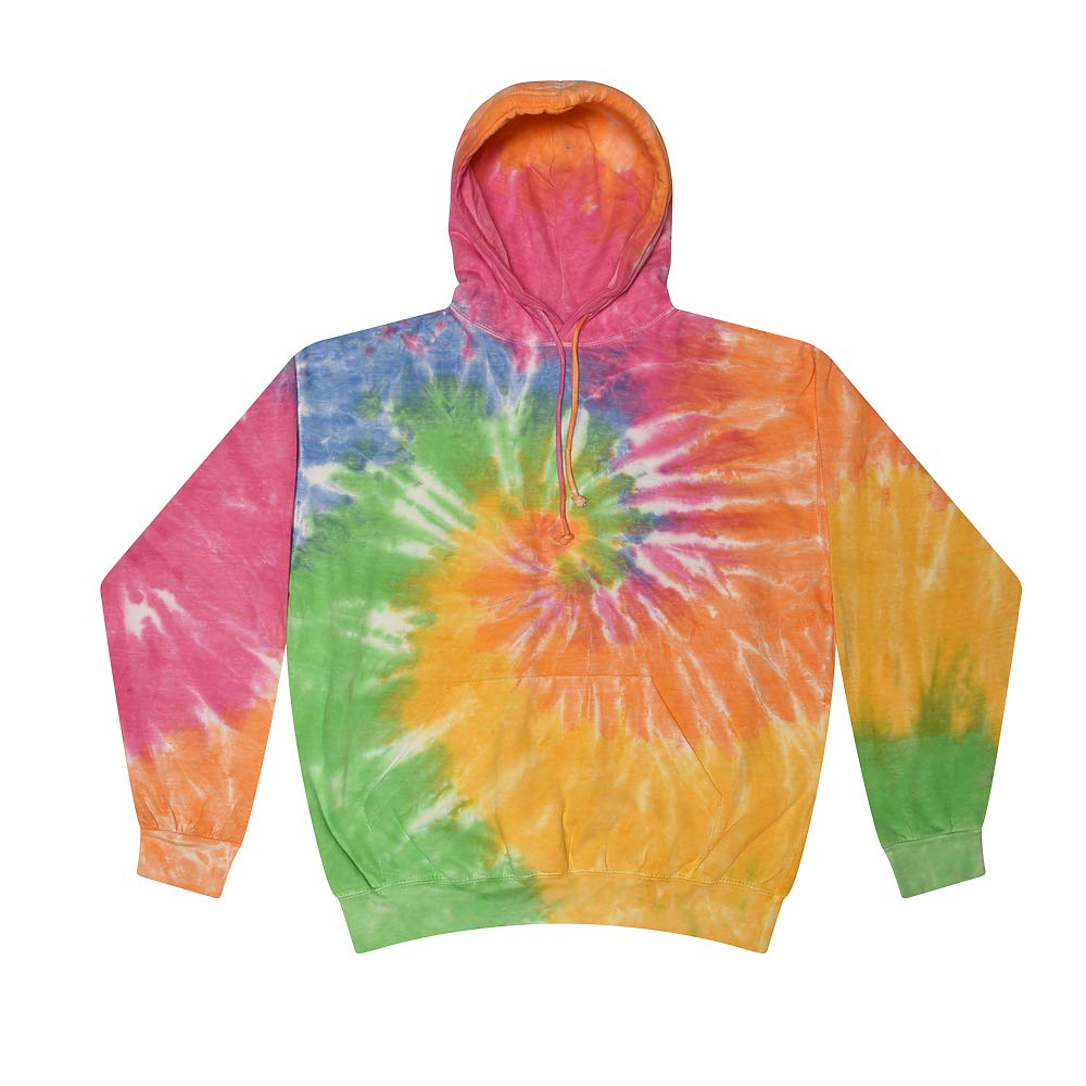 CLOTHING WORLD Tie-Dye Kids and Adult Unisex Hoodie - Cotton Hoodie Sweatshirt for Kids, Men, Women - 3D Multi-Spiral Hoodies