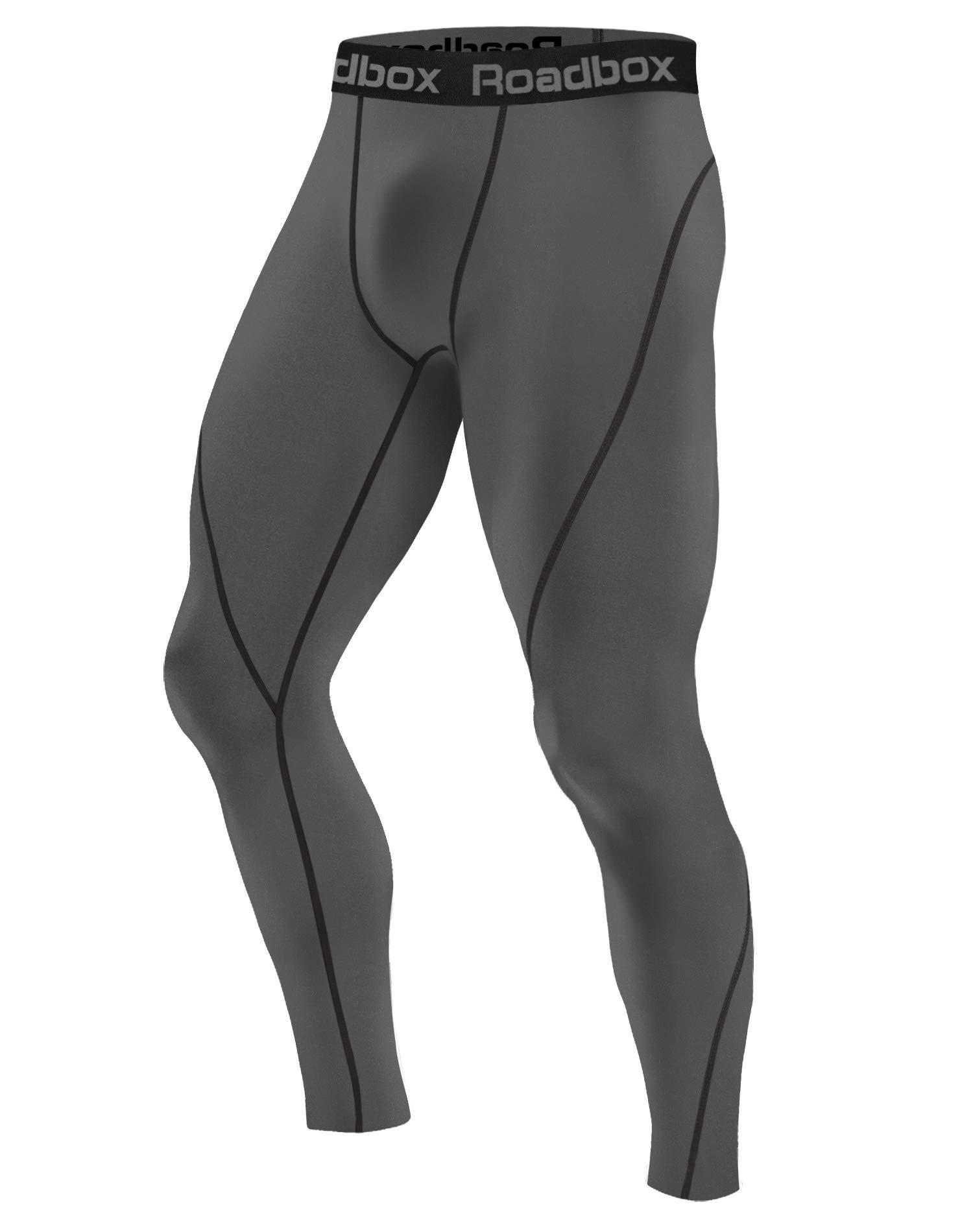 Roadbox Men's Compression Pants Base Layer Cool Dry Tights Leggings