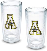 Tervis Appalachian State University Emblem Tumbler, Set of 2, 16 oz, Clear