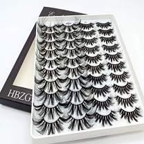HBZGTLAD 20 Pairs 3D Soft Mink False Eyelashes Handmade Wispy Fluffy Long Mink Lashes Natural Eye Extension Makeup Kit Cilios (3D-XK)