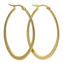 AmDxD Stainless Steel Jewelry for Women Hoop Earrings Large U Shape Width 29.8MM