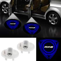 2Pcs HD LED Car Door Welcome Light Logo Projector for RX8 MAZDA6 MAZDASPEED CX-9 MAZDA8 ATENZA MPV Ruiyi-Blue