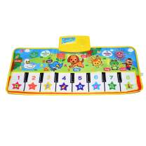Piano Mat, Kids Keyboard Mat Playmat Education Toy Birthday Christmas Easter Day Gift for Kids Boys Girls
