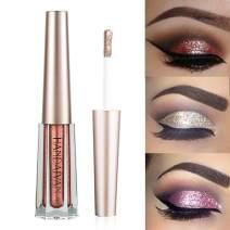 GL-Turelifes Diamond Glitter Liquid Eyeshadow & Eyeliner Pen Starry Sequins Mermaid Eye Shadow Long Lasting Shiny and Pigmented Waterproof Sparkling &Shimmer Eyes Makeup(#3 Garnet)
