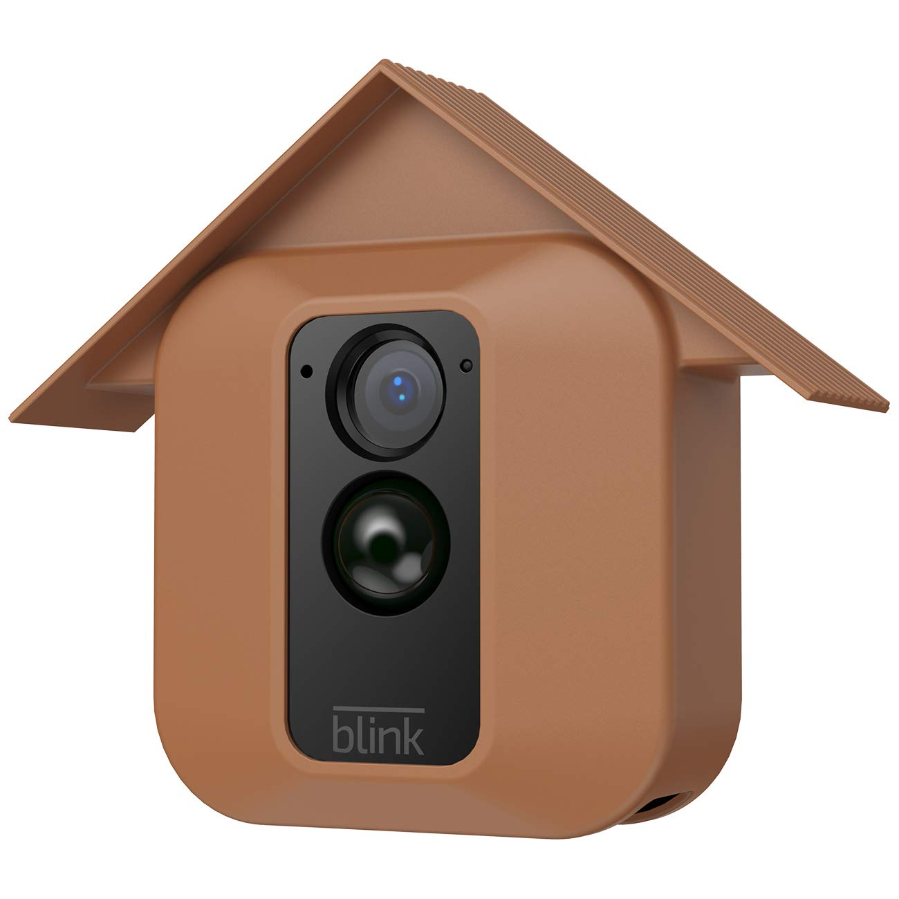 HOLACA Silicone Skin for Blink Home Security- Silicon Case for Blink XT Blink XT2 Outdoor Camera - Anti-Scratch Protective Cover - Extra Protection (1 Pack, Brown)