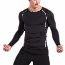 CFR Sport Base Layer Long Sleeves Compression Tights Shirts Men Activewear Muscle Tank for Fitness Workout Running Rashguard Black,M UPS Post
