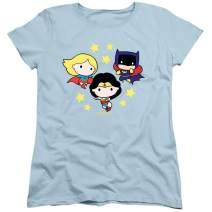 Popfunk Justice League Chibi Women's T Shirt & Stickers