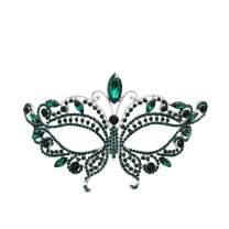 Miallo Bridal Full Rhinestone Crystal Fancy Masquerade Eye Mask for Halloween…