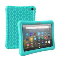 AVAWO Silicone Case for All-New Kindle Fire HD 8 2020 & Fire HD 8 Plus (Latest 10th Generation, 2020 Release) - Anti Slip Shock Proof Drop Protective Kids Case for Fire HD 8 & HD 8 Plus, Turquoise