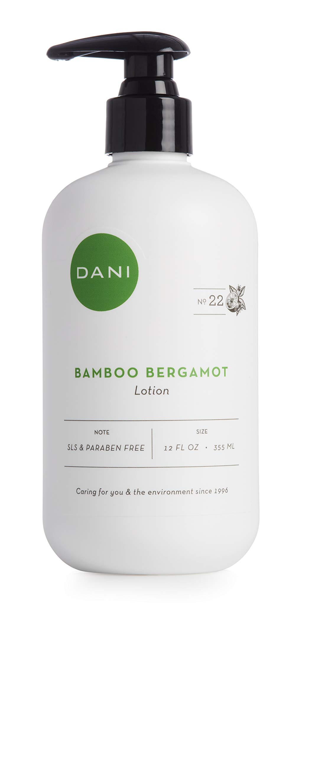 Natural Hand & Body Lotion by DANI Naturals - Clean Bamboo Bergamot Scented Aromatherapy - Moisturizing Shea Butter & Aloe - with Natural & Organic Ingredients - For Men & Women - 12 Ounce Bottle