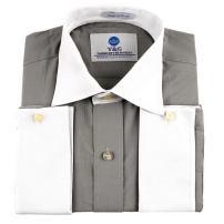 Y&G YMA01B Multi Checkered Dress Shirt for Husband Cotton Cuff Shirt