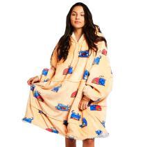 The Oodie Wearable Sherpa Blanket Hoodie - Cozy & Warm Oversized Fleece Hooded Blanket with Large Front Pocket - Thick Plush Blanket Sweatshirt for Men & Women (Cat Oodie)