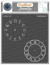 CrafTreat Clock Stencils for painting on Wood, Canvas, Paper, Fabric, Floor, Wall and Tile - Clock Dials - 6x6 Inches - Reusable DIY Art and Craft Stencils - Clock Face Stencil