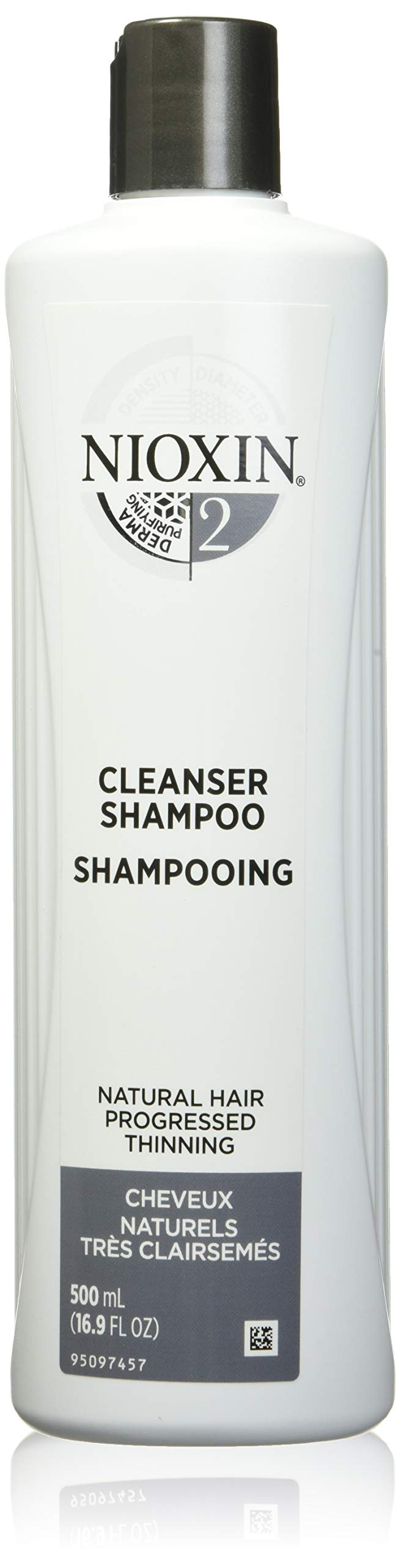 Nioxin System 2 Cleanser Shampoo for Natural Hair with Progressed Thinning, 16.9 oz