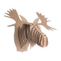 Cardboard Safari Recycled Cardboard Animal Taxidermy Moose Trophy Head, Fred Brown Giant