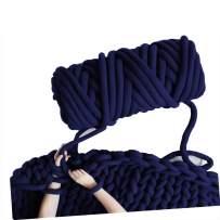 Arm Knitting Yarn, Hand Knitting, Arm Knit Yarn, Bulky Yarn, Jumbo Yarn, Giant Yarn,Cotton Tube Yarn, (Navy, 3.5 lbs)