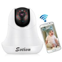 SOTION Wireless WiFi Internet Network IP Surveillance Security Video Home/Indoor Camera System, Baby and Pet Monitor with Pan and Tilt, Two Way Audio & Night Vision