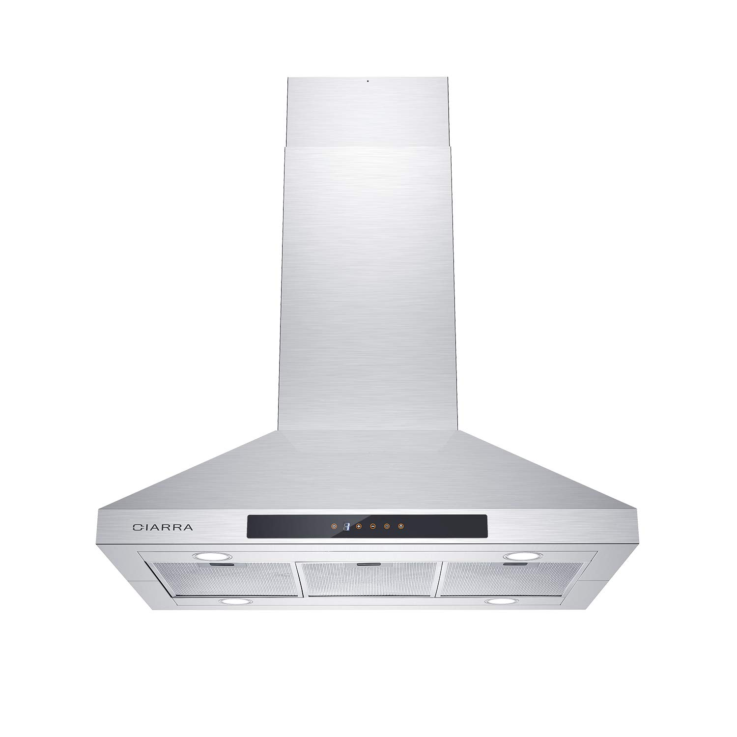 CIARRA CAS90831 Ceiling Mount Hood, 450CFM Stainless Steel Range Hood 36 inch, Ducted/Ductless Convertible Island Stove Vent Hood with 3 Speed Motor & Dishwasher Safe Filter, Touch Control