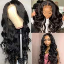 Imeya 20 Inch Body Wave HD Lace Front Wigs Human Hair Pre Plucked Natural Hairline 13x6 Lace Front Wig for Black Women with Baby Hair 150% Density Glueless Brazilian Remy Hair Wig Bleached Knots