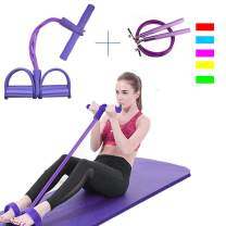 SpinLaLa Resistance Bands Exercise Cords and Jump Rope Set,Super Light 4-Tube Yoga Strap Elastic Pull Rope Pedal Resistance Band Fitness Equipment for Training,Physical Therapy,Home Workouts