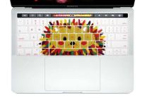 HRH Silicone Keyboard Cover Compatible Newest MacBook Pro with Touch Bar 13 Inch and 15 Inch(A2159/A1989/A1706,A1990/A1707) 2019 2018 2016 2017 Release,Cute Hedgehog