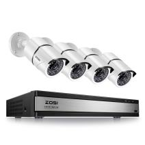 ZOSI 1080p 16 Channel Security Camera System,16 Channel Surveillance Hybrid DVR Recorder with (4) Full HD 1080p Bullet Camera Outdoor/Indoor CCTV Camera System with Night Vision,No Hard Drive