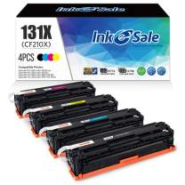 INK E-SALE Remanufactured Toner Cartridge Replacement for HP 131A CF210A 131X CF210X Canon 131,for use in HP Laserjet Pro 200 color M251n, M251nw, M251MFP, M276nw, M276n Series Printer, 4 Pack