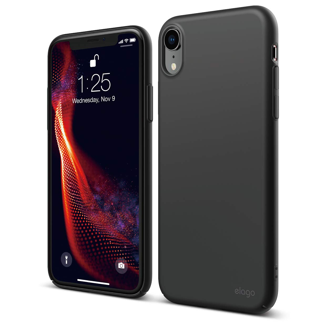 elago Slim Fit Series iPhone XR case [Black] - [Matte Finish][Support Wireless Charging][Full Covered][Scratch & Minor Drop Protection][Everyday Case] Compatible with iPhone XR (2018)