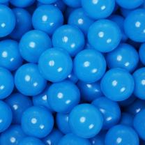 PlayMaty Play Ball Pit Balls - 2.36inches Phthalate&BPA Free Plastic Ocean Transparent Balls for Kids Toddlers and Babys for Playhouse Play Tent Playpen Pool Party Decoration Pack of 70 (Blue)
